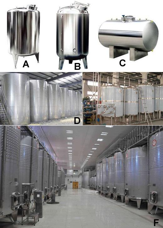 不锈钢储罐的分类及使用范围